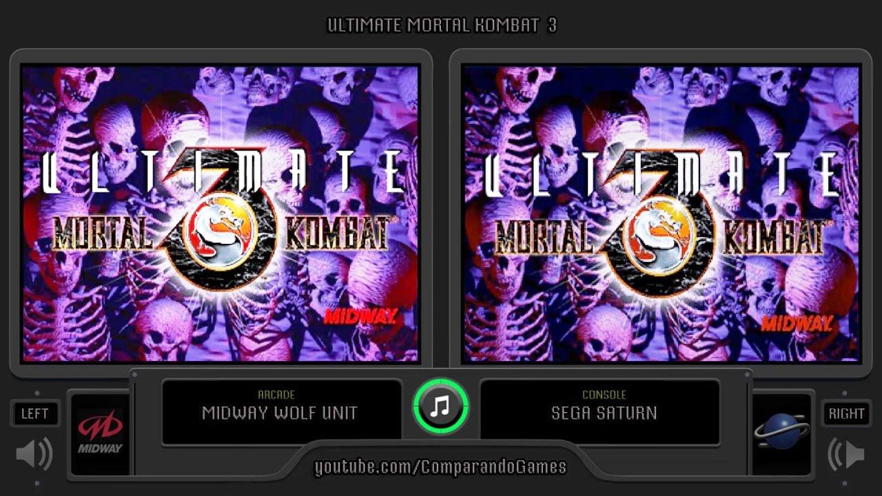 Ultimate Mortal Kombat 3 (Arcade vs Sega Saturn) Side by Side Comparison |  Vc Decide