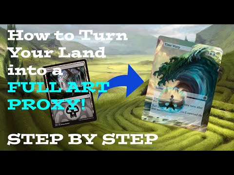 How to Make FULL Art MTG Proxies Step by Step