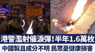 半年1.6萬枚!港警濫射催淚彈遭批「如軍事行動」|新唐人亞太電視|20191216
