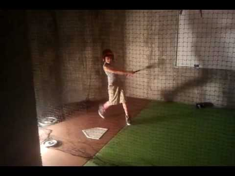 poppy and ben breaking in the new basement batting cage youtube
