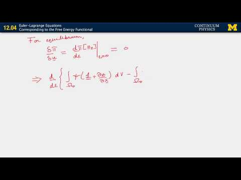 12.04. Euler Lagrange equations corresponding to the free energy functional
