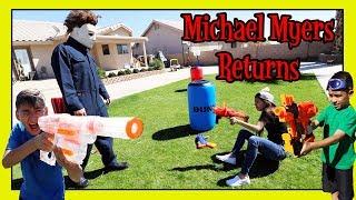 MICHAEL MYERS RETURNS | NERF NATION | D&D SQUAD BATTLES