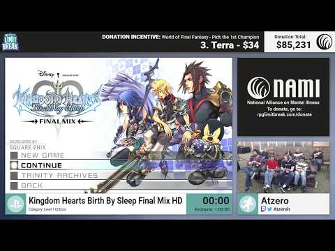 Kingdom Hearts: Birth by Sleep Final Mix (Ventus Critical) by Atzero (RPG Limit Break 2017 Part 45)