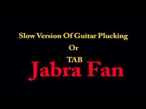 Jabra Fan Guitar Plucking, TAB andRhythm