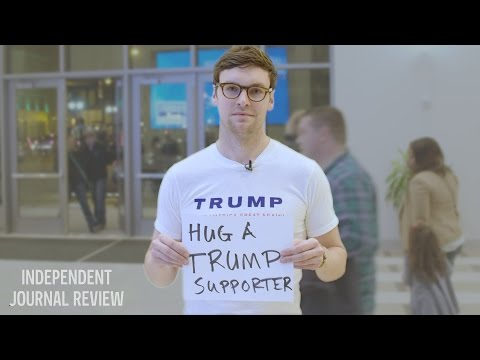 Trump Supporter Asks For Hugs At A Bernie Rally