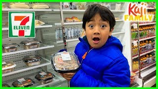 Ryan eating Brunch aт 7-ELEVEN Japan for the first time!!!