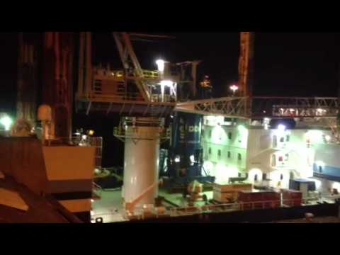 Drilling platform thing on Humber