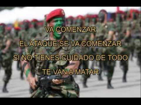 TOQUE MILITAR MEXICANO ATAQUE CON LETRA