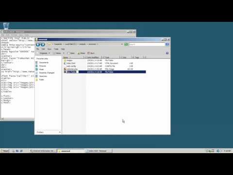 Setting Up a 2008 Web Server - Internet Information Services (IIS)