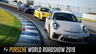 Porsche World Road Show 2019 - Porsche 992 Review + Porsche 911 GT3 Track day + Panamera Turbo Sport