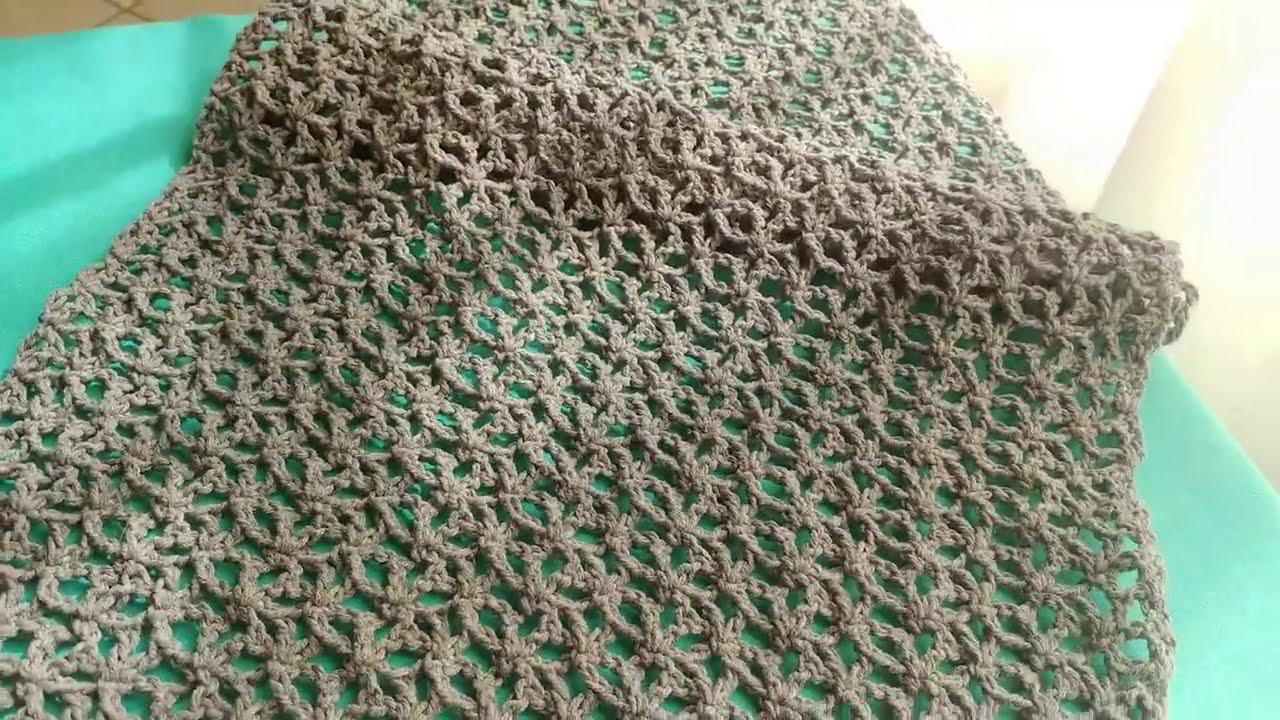 εύκολη πλέξη αστεράκια για σάλι για κασκόλ και για αρχάριους  #мастеркласс #Free Crochet Pattern