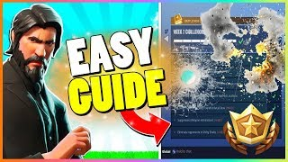 COMPLETE ALL WEEK 7 CHALLENGES IN 5min! | Easy Guide | Fortnite Battle Royale