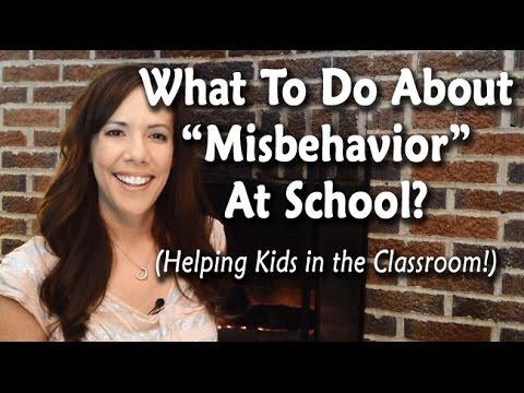 why do children misbehave in school