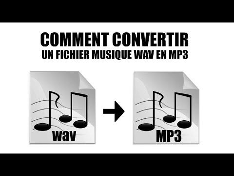 Comment convertir un Fichier musique WAV en  MP3 sans logiciel.