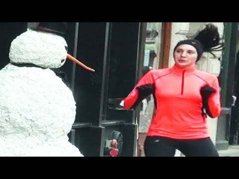 Watch Scary The Snowman Spread Some Holiday Cheer By Scaring The Bejesus Out Of Boston Locals