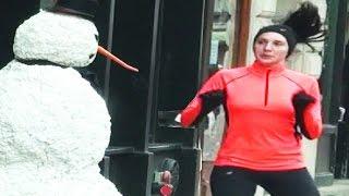 Scary Snowman Is A SAVAGE  Hidden Camera Practical Joke Season 5 Episode 2