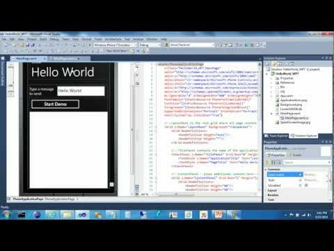 Linxter Integration Demo Part 2 - Windows Phone 7 (WP7) Hello World