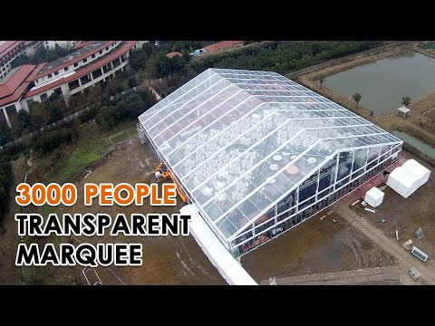 3000 People Transparent Marquee, Event Tent with Clear Top Party Tent, Concert Tent from Liri Tent