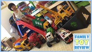 BIG Toy TRUCKS for Children - Giant Monster Truck Ramp Jump Stinky the Garbage Truck, Bruder