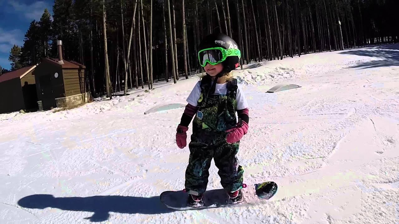 aspen the baby snowboarder is now 3 youtube