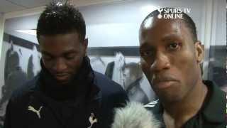 Spurs TV Exclusive | Drogba interviews Adebayor after Chelsea match