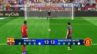 BARCELONA vs MANCHESTER UNITED | UEFA Champions League - UCL | Penalty Shootout | PES 2019