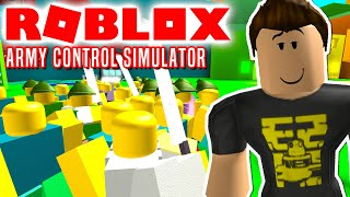 THE ARMY OF COMKEANS IS ATTACKING! -Roblox Army Control Simulator english