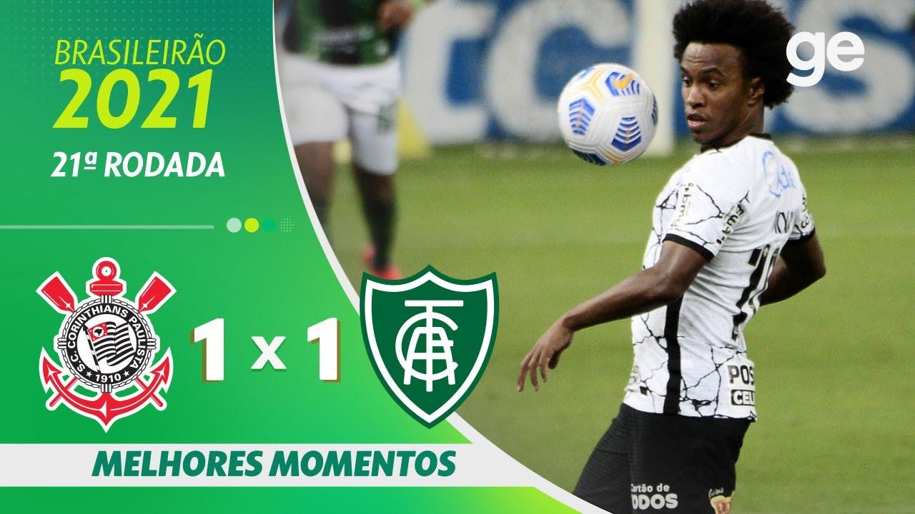 Download CORINTHIANS 1 X 1 AMÉRICA-MG | MELHORES MOMENTOS | 21ª RODADA BRASILEIRÃO 2021 | ge.globo