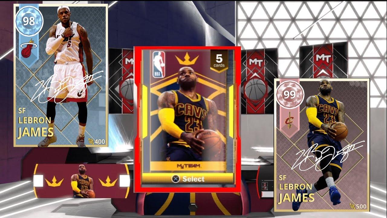 3d1251bf305 NBA 2k18 LEBRON JAMES PACK OPENING!!! DIAMOND PULL!!! - YouTube