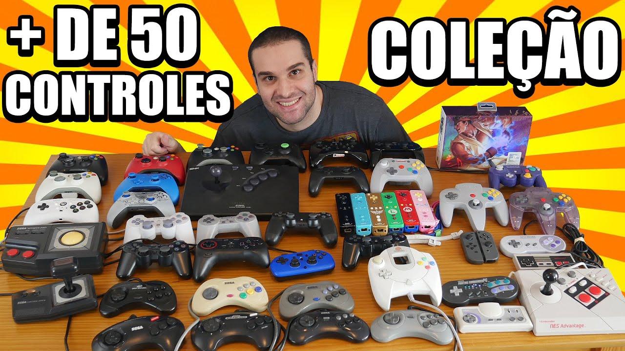 Minha Coleção De Controles / Mais De 50 Controles De Vários Consoles Diferentes