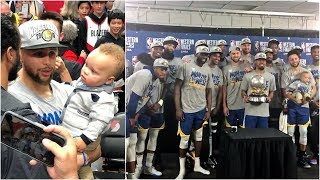 the-golden-state-warriors-celebrate-going-to-the-5th-straight-nba-finals
