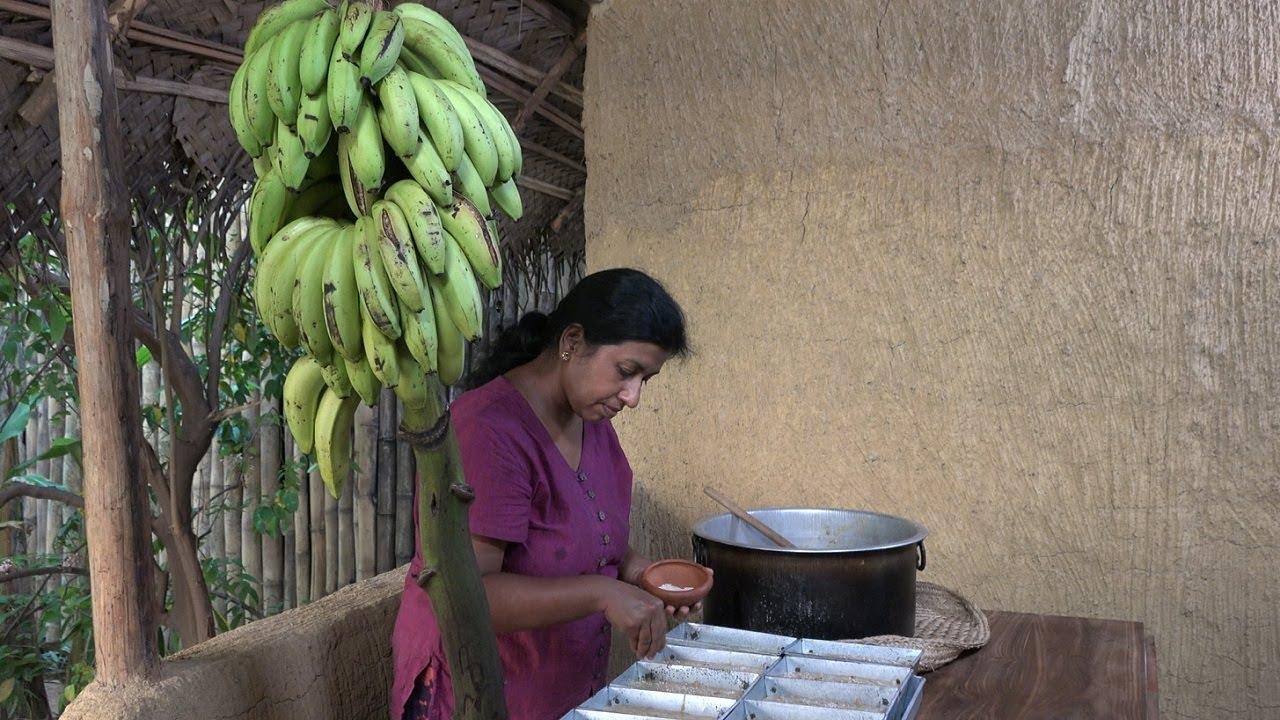 Baking Banana Bread in a traditional wood fired oven ❤ It looks like bread but taste like cake
