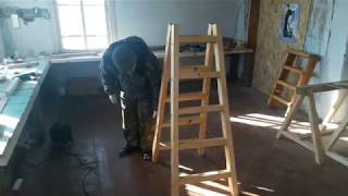 Деревянная стремянка, сделанная своими руками - обзор и фото сборки