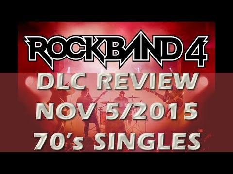 Rock Band 4 DLC Review November 4/15:  70's Singles Iggy Pop, Robert Palmer & The Hollies