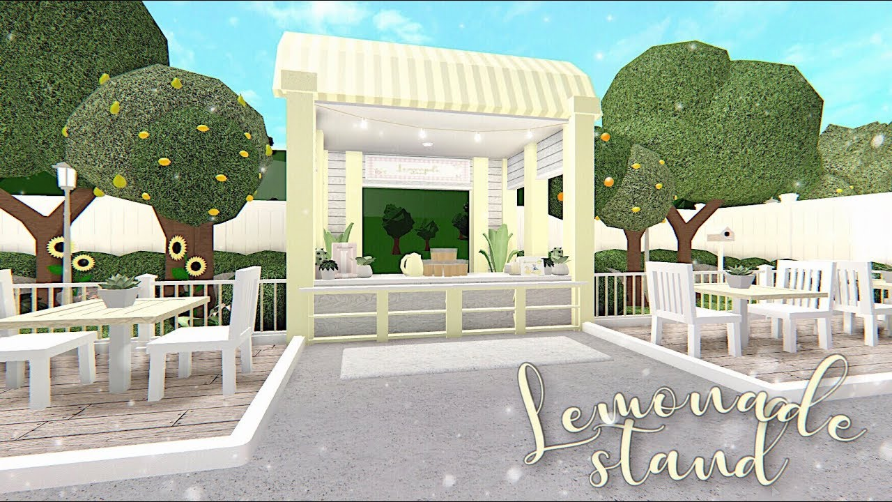 Bloxburg Lemonade Stand Youtube