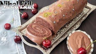 ÇİKOLATALI RULO PASTA (Nefis Rulo Pasta Nasıl Yapılır )