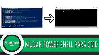 Trocar Windows Power shell pelo antigo CMD (Prompt de comando) Windows 10