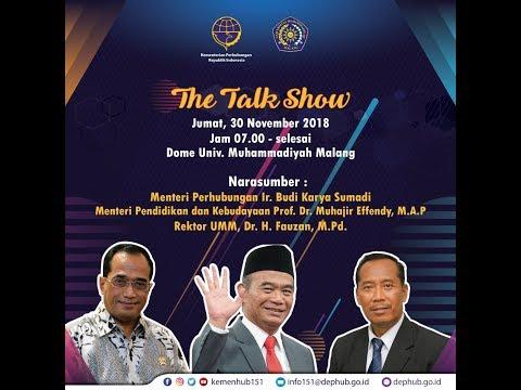 Live Event - The talk show  Menteri Perhubungan, Budi Karya Sumadi dan Kemendikbud Muhajir Effendy