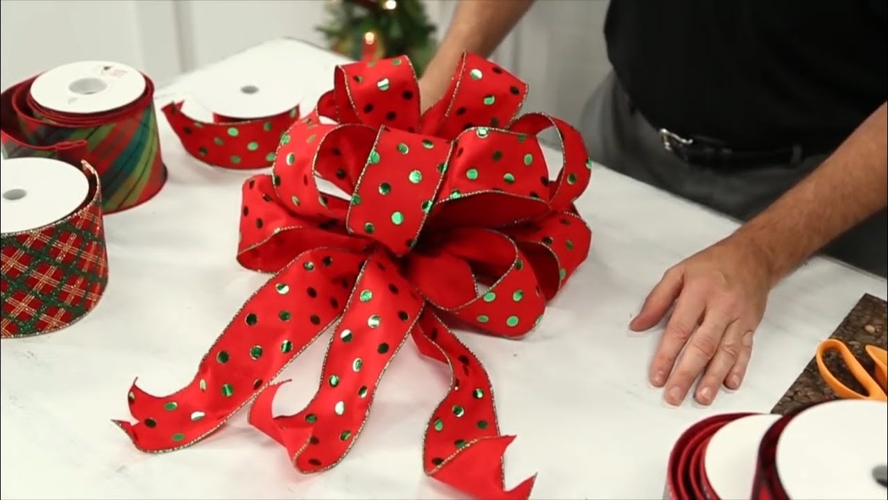 How To Tie A Christmas Bow.How To Tie A Bow