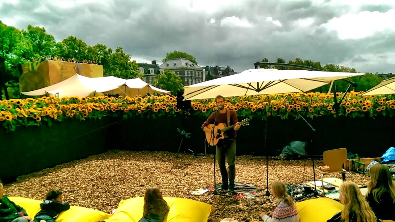 A Brighter Light Performing In Sunflower Labyrinth Amsterdam Van Gogh Museum 6 September 2015