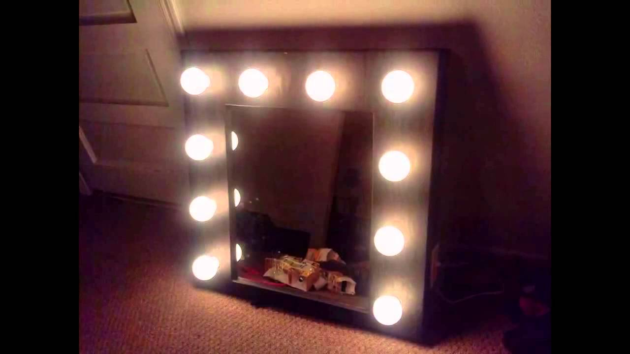 Homemade Lighted Vanity Mirror Youtube