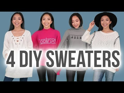 4 WAYS TO UPCYCLE SWEATERS | Hand Sewing DIYs
