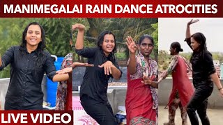 Manimegalai Ultimate Comedy Dancing in the rain | Funny Video | Rain Atrocities