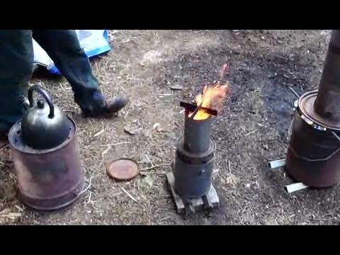 top lit updraft (TLUD) wood cook stove
