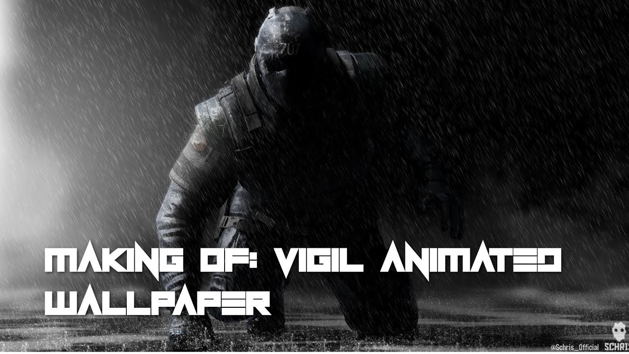 Making of vigil wallpaper rainbow six siege youtube - Rainbow six siege vigil wallpaper ...