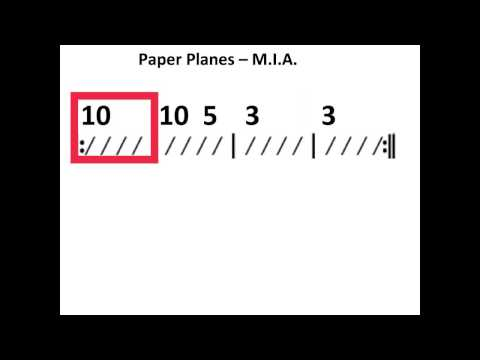 Paper Planes - Moving chord chart