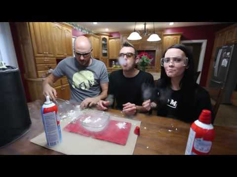 Liquid Nitrogen and Whip Cream Challenge   Waptubes Com