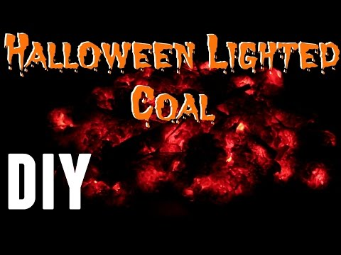 DIY - How To Make Halloween Fake Fire Coal Prop Less Than $10