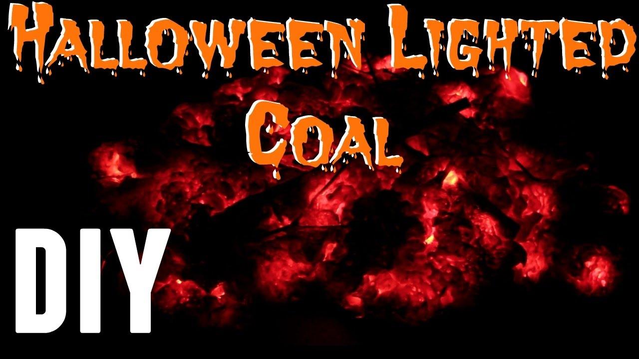 DIY - How To Make Halloween Fake Fire Coal Prop Less Than ...