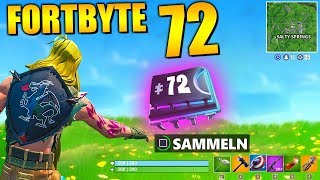 Fortnite Fortbyte 72 ⛰️ Salty Springs | Alle Fortbyte Orte Season 9 Utopia Skin Deutsch